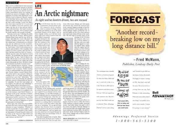 Article Preview: An Arctic nightmare, November 1994 | Maclean's