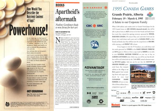 Article Preview: Apartheid's aftermath, November 1994 | Maclean's