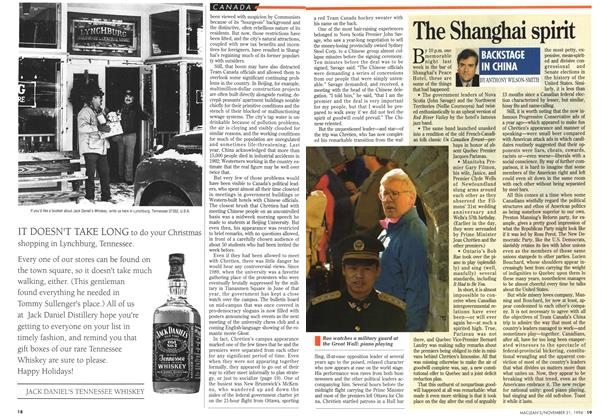 Article Preview: The Shanghai spirit, November 1994 | Maclean's