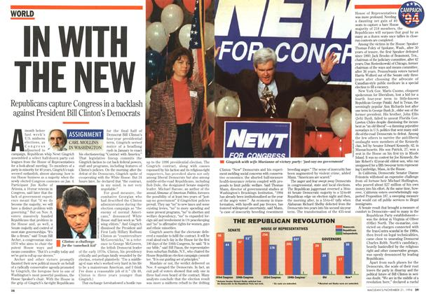 Article Preview: IN WITH THE NEW, November 1994 | Maclean's