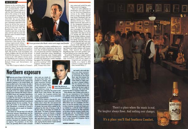 Article Preview: Northern exposure, November 1994   Maclean's