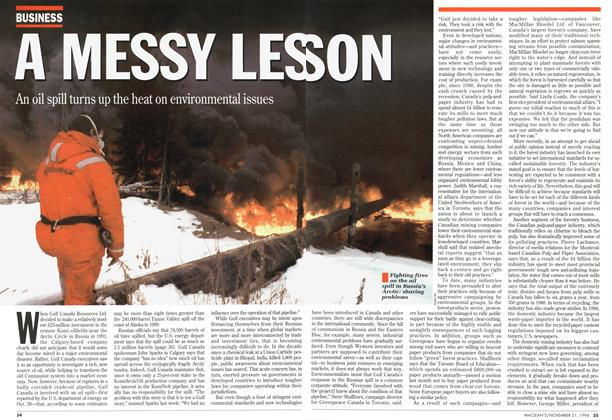 Article Preview: A MESSY LESSON, November 1994 | Maclean's