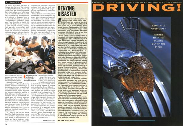 Article Preview: DENYING DISASTER, November 1994 | Maclean's