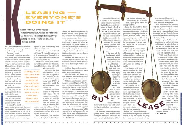 Article Preview: LEASING - EVERYONE'S DOING IT, November 1994 | Maclean's