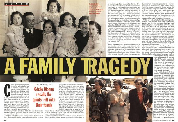 Article Preview: A FAMILY TRAGEDY, November 1994 | Maclean's