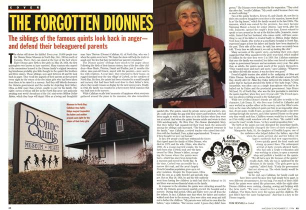 Article Preview: THE FORGOTTEN DIONNES, November 1994 | Maclean's