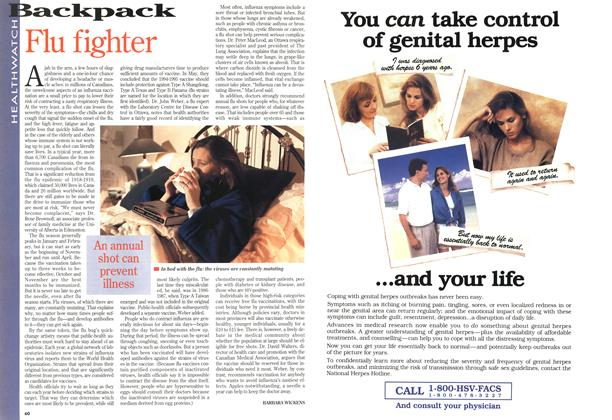 Article Preview: Flu fighter, November 1994 | Maclean's
