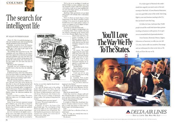Article Preview: The search for intelligent life, November 1994 | Maclean's