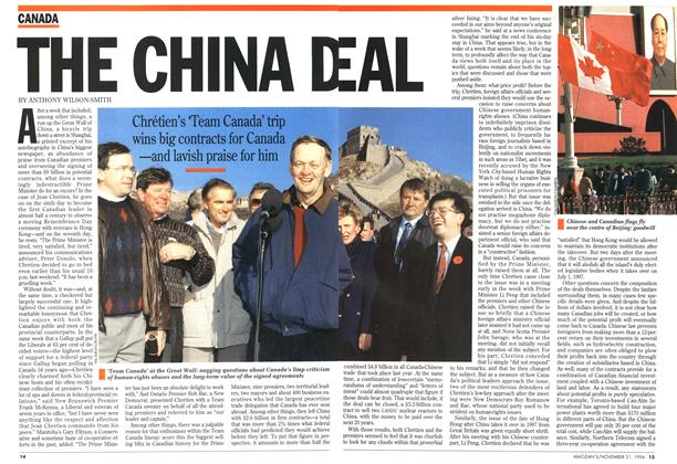 Article Preview: THE CHINA DEAL, November 1994 | Maclean's
