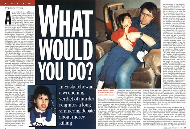 Article Preview: WHAT WOULD YOU DO?, November 1994 | Maclean's