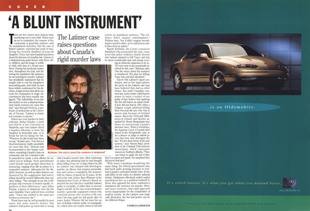 Article Preview: 'A BLUNT INSTRUMENT, November 1994 | Maclean's