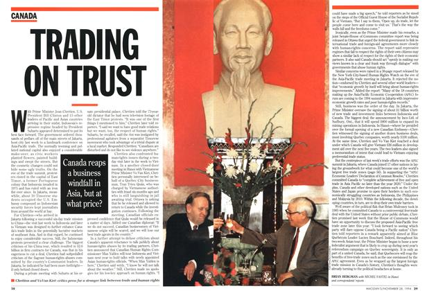 Article Preview: TRADING ON TRUST, November 1994 | Maclean's