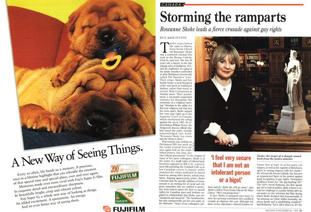 Article Preview: Storming the ramparts, November 1994 | Maclean's