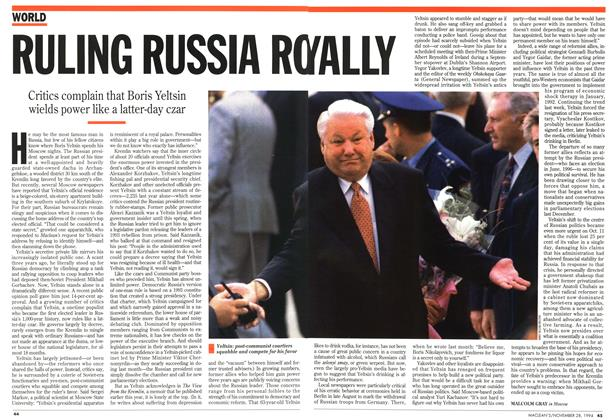 Article Preview: RULING RUSSIA ROYALLY, November 1994 | Maclean's