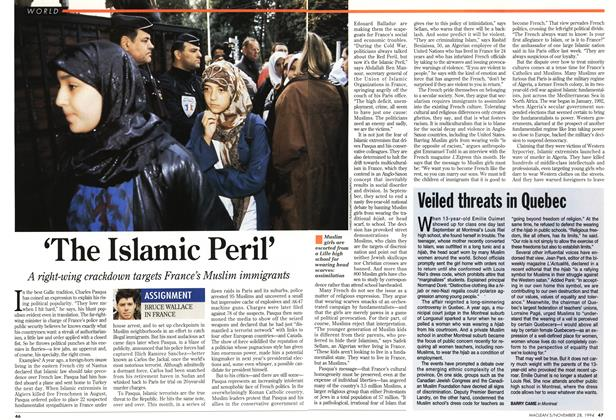 Article Preview: Veiled threats in Quebec, November 1994 | Maclean's