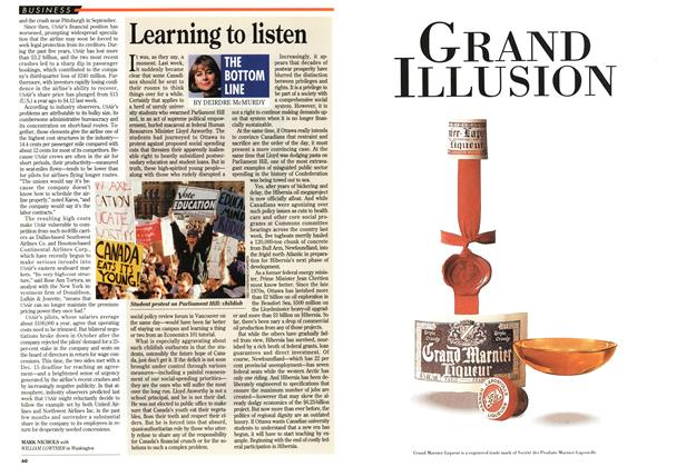 Article Preview: Learning to listen, November 1994 | Maclean's