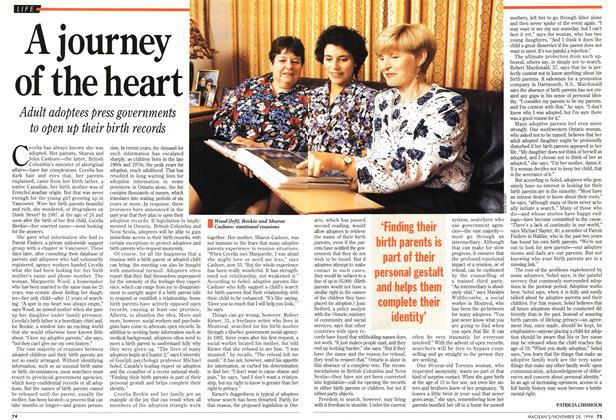 Article Preview: A journey of the heart, November 1994 | Maclean's