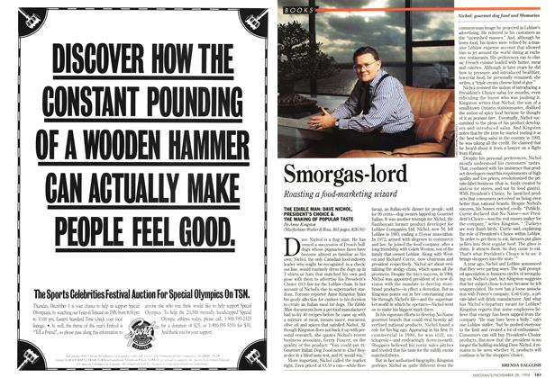 Article Preview: Smorgas-lord, November 1994 | Maclean's
