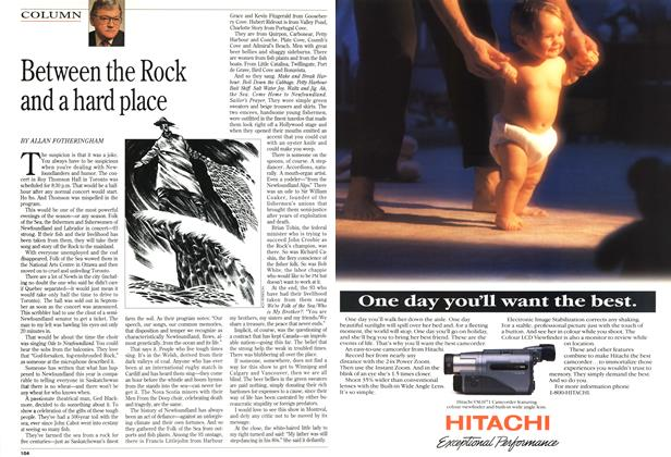 Article Preview: Between the Rock and a hard place, November 1994 | Maclean's