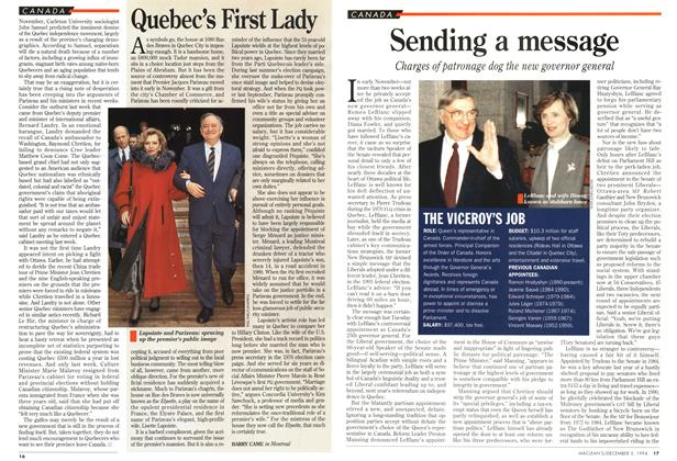 Article Preview: Sending a message, December 1994 | Maclean's