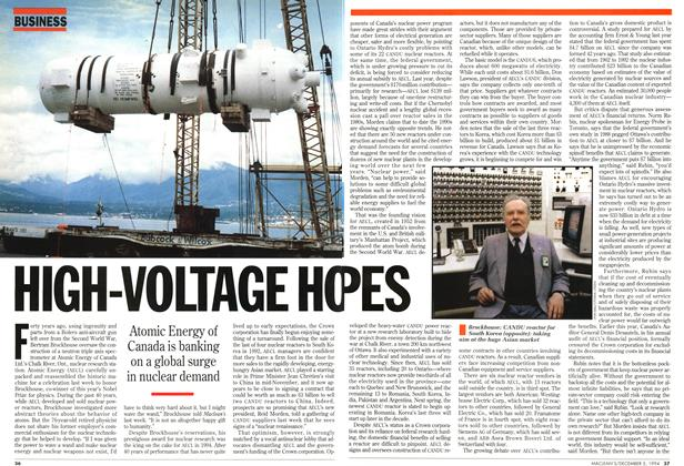 Article Preview: HIGH-VOLTAGE HOPES, December 1994 | Maclean's