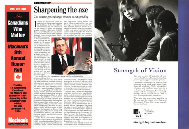 Article Preview: Sharpening the axe, December 1994 | Maclean's