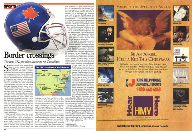 Article Preview: Border crossings, December 1994 | Maclean's
