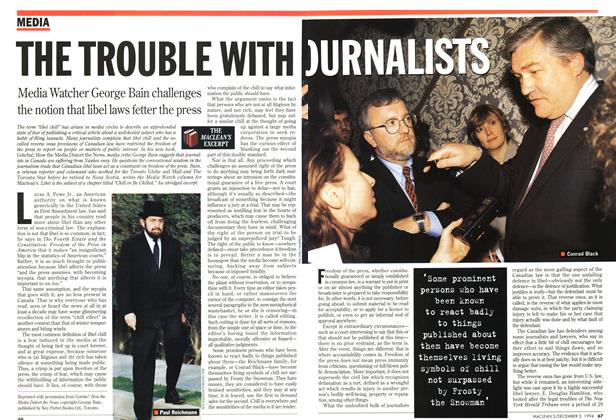 Article Preview: THE TROUBLE WITH JOURNALISTS, December 1994 | Maclean's