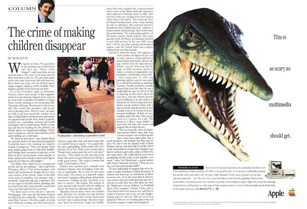 Article Preview: The crime of making children disappear, December 1994 | Maclean's