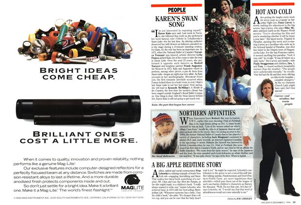 Article Preview: A BIG APPLE BEDTIME STORY, December 1994 | Maclean's