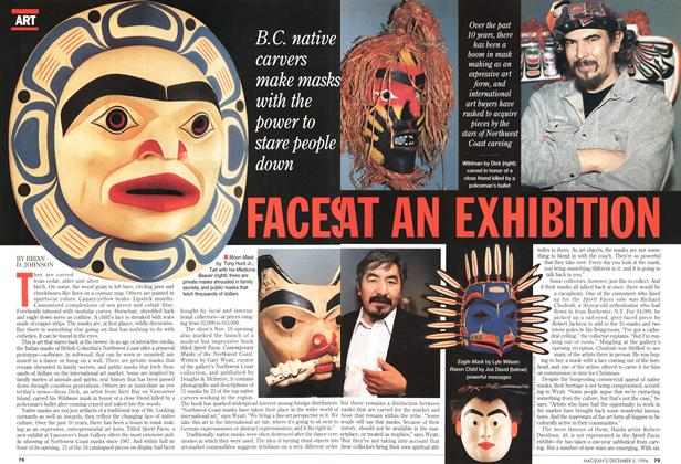 Article Preview: FACES AT AN EXHIBITION, December 1994 | Maclean's