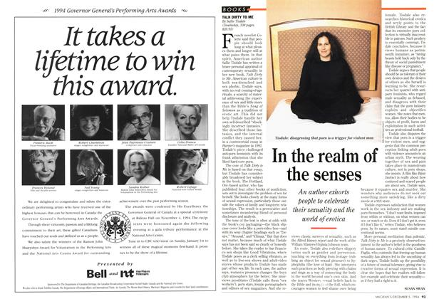 Article Preview: In the realm of the senses, December 1994 | Maclean's