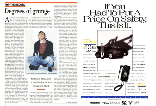 Article Preview: Degrees of grunge, December 1994 | Maclean's