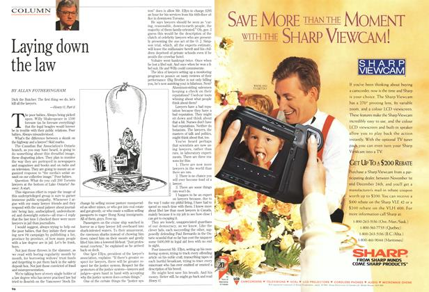 Article Preview: Laying down the law, December 1994 | Maclean's