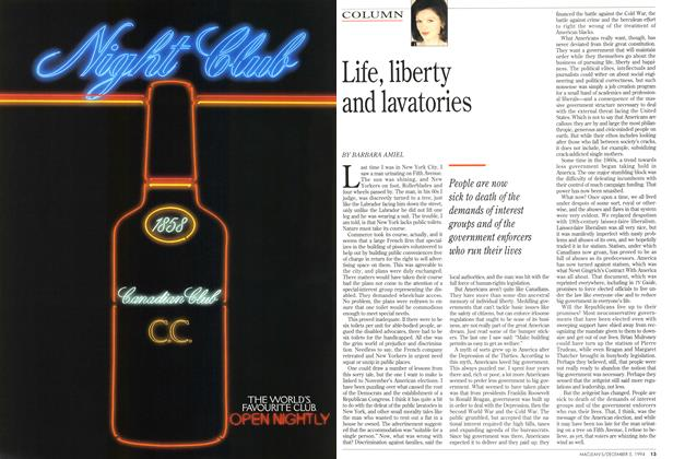 Article Preview: Life, liberty and lavatories, December 1994 | Maclean's