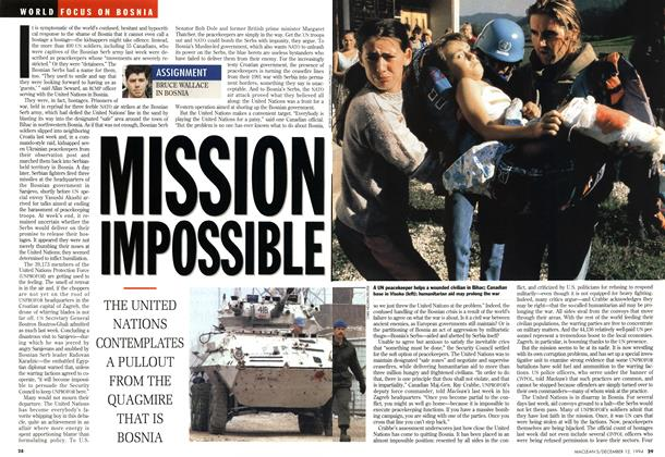Article Preview: MISSION IMPOSSIBLE, December 1994 | Maclean's