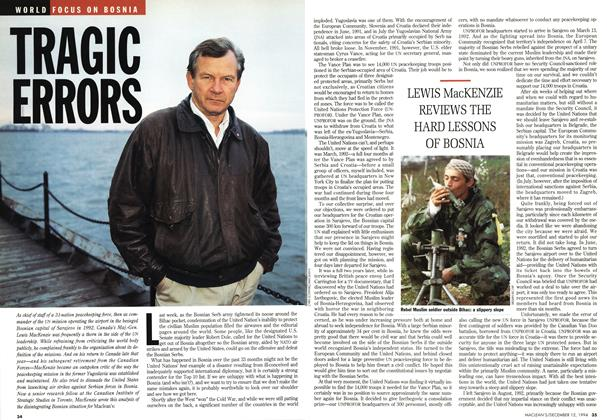 Article Preview: TRAGIC ERRORS, December 1994 | Maclean's