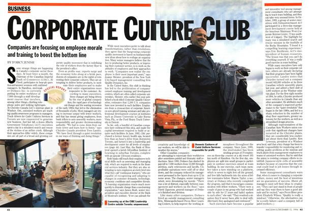 Article Preview: CORPORATE CULTURE, December 1994 | Maclean's