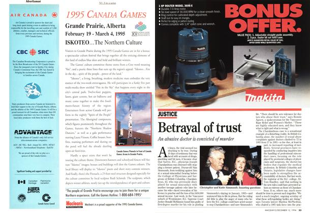 Article Preview: Betrayal of trust, December 1994 | Maclean's