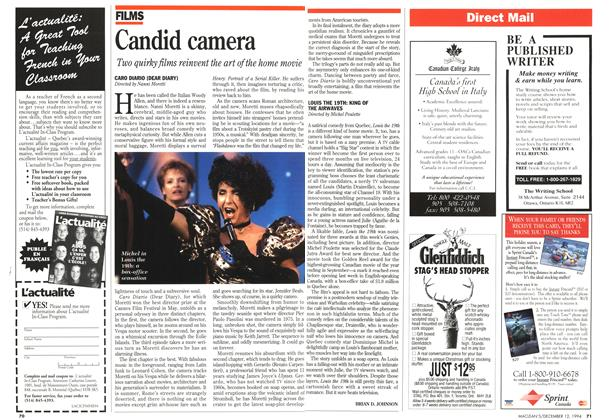 Article Preview: Candid camera, December 1994 | Maclean's