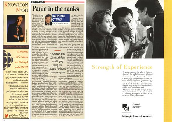 Article Preview: Panic in the ranks, December 1994 | Maclean's