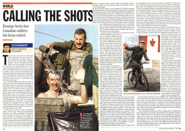 Article Preview: CALLING THE SHOTS, December 1994 | Maclean's