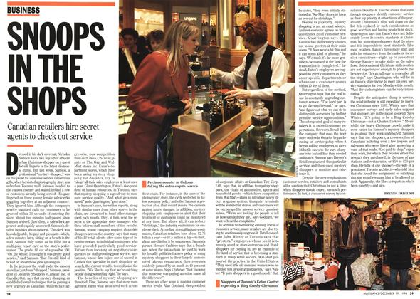 Article Preview: SNOOPS IN THE SHOPS, December 1994 | Maclean's