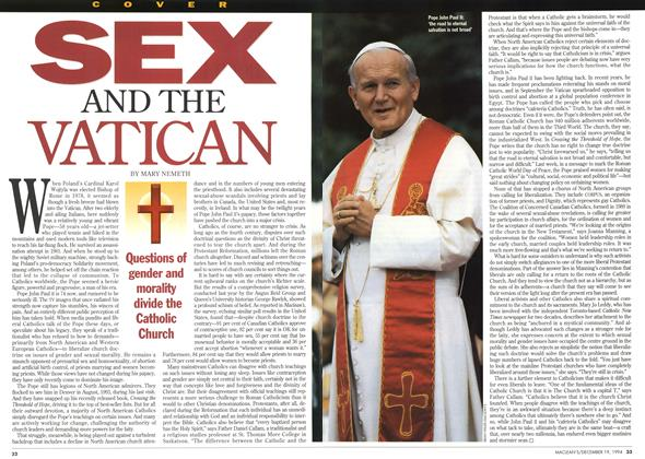 Article Preview: SEX AND THE VATICAN, December 1994 | Maclean's