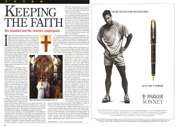 Article Preview: KEEPING THE FAITH, December 1994 | Maclean's