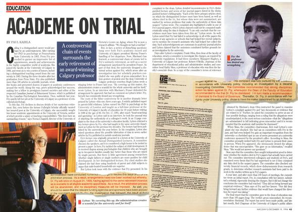 Article Preview: ACADEME ON TRIAL, December 1994 | Maclean's