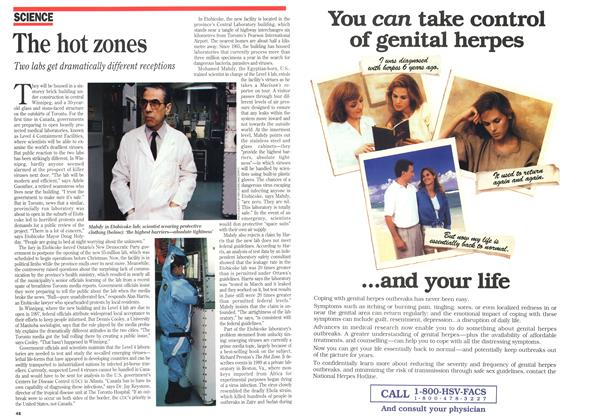 Article Preview: The hot zones, December 1994 | Maclean's