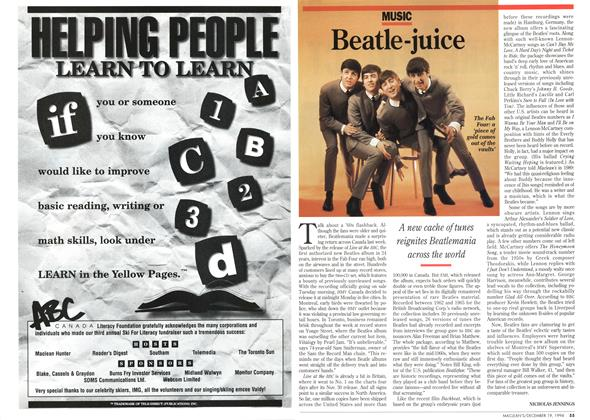 Article Preview: Beatle-juice, December 1994 | Maclean's