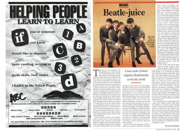 Article Preview: Beatle-juice, December 1994 | Maclean's