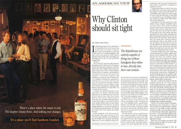 Article Preview: Why Clinton should sit tight, December 1994 | Maclean's
